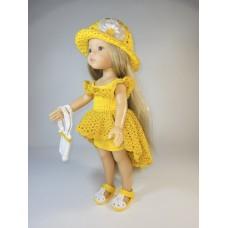 """Комплект """"Виталия"""" цвет желтый-желтый с люрексом"""